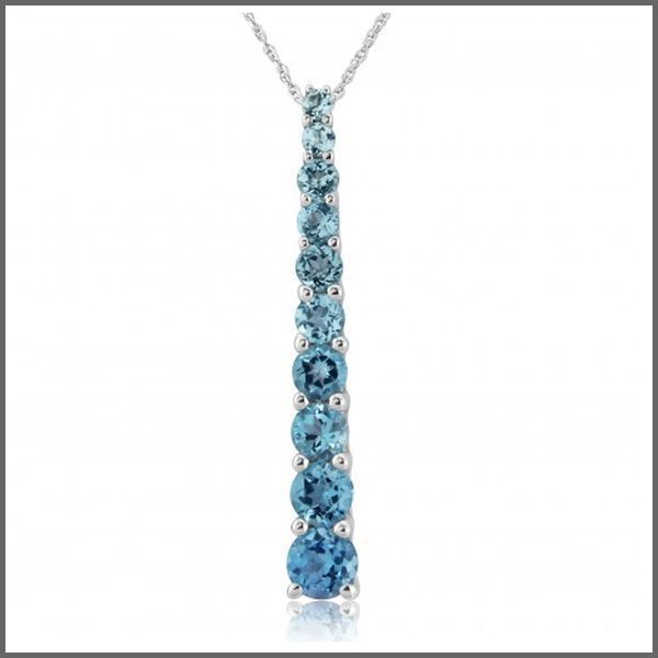 Kaanaanmaa 9ct white gold blue topaz pendant necklace 9ct white gold blue topaz pendant necklace aloadofball Images
