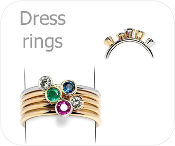 dress ring collection button