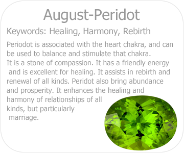august peridot button
