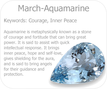 march aquamarine button