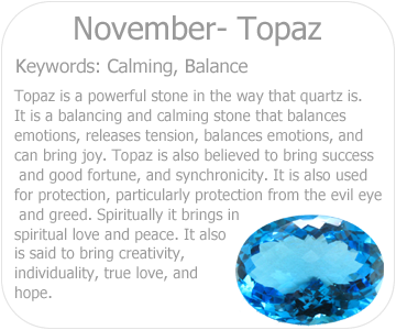 november topaz button