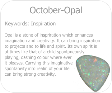 October opal button