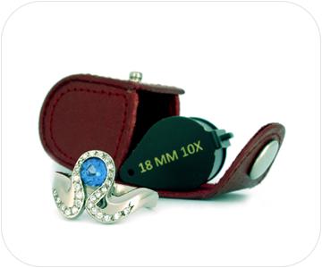 handmade fairtrade tanzanite ring button