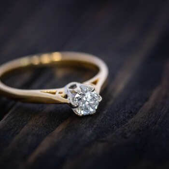 Diamond solitair ring repaired