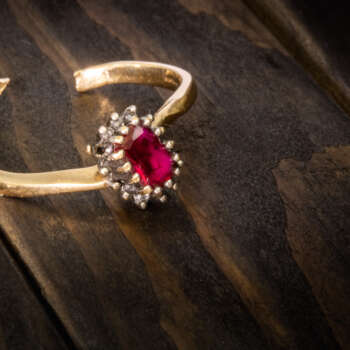 Ruby diamond cluster repair