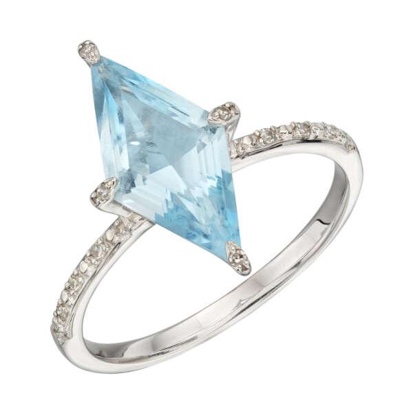 Ring Topaz & Diamond