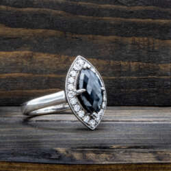 Platinum, saphire ring