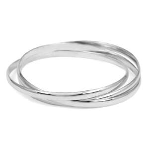 Three part, loose, solid bangle